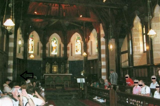 Ghost in church